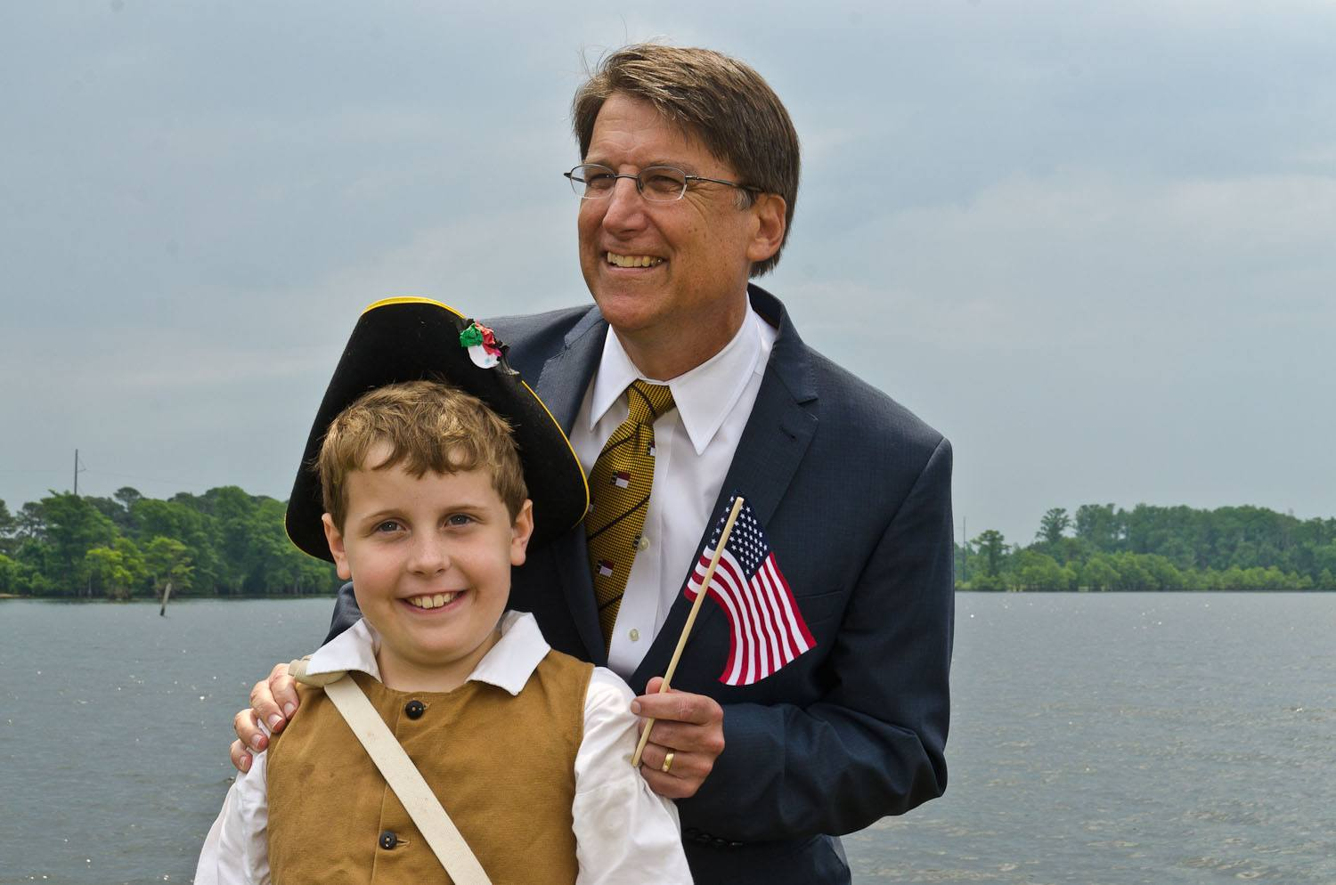 Gov McCrory with 'Gov Eden's' son