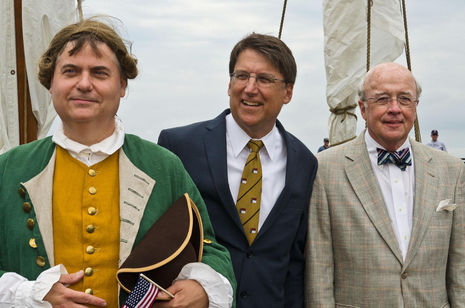Gov Eden, Gov McCrory and Edenton's Mayor Roland Vaughan