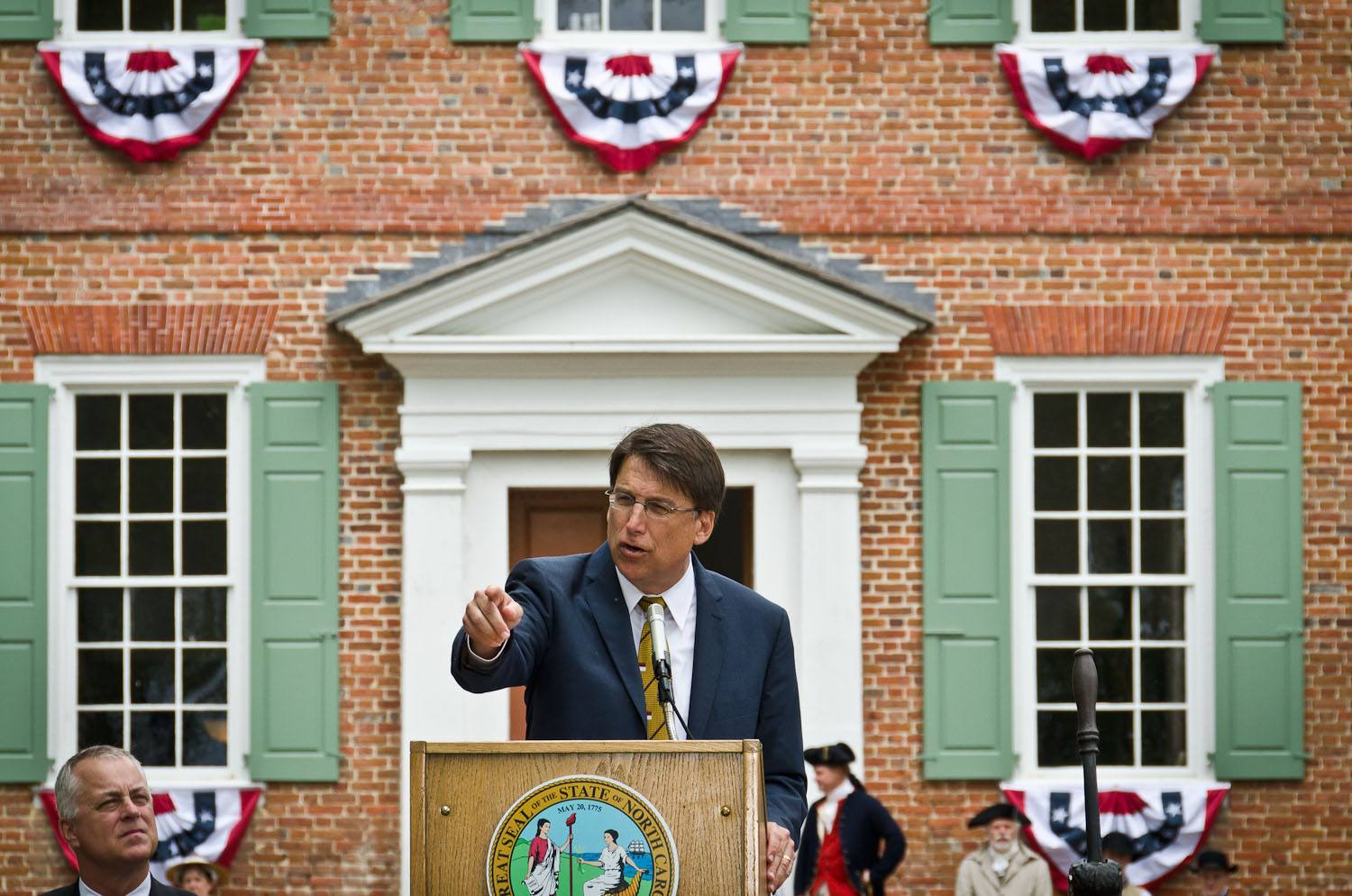 Gov McCrory speaks to the visitors