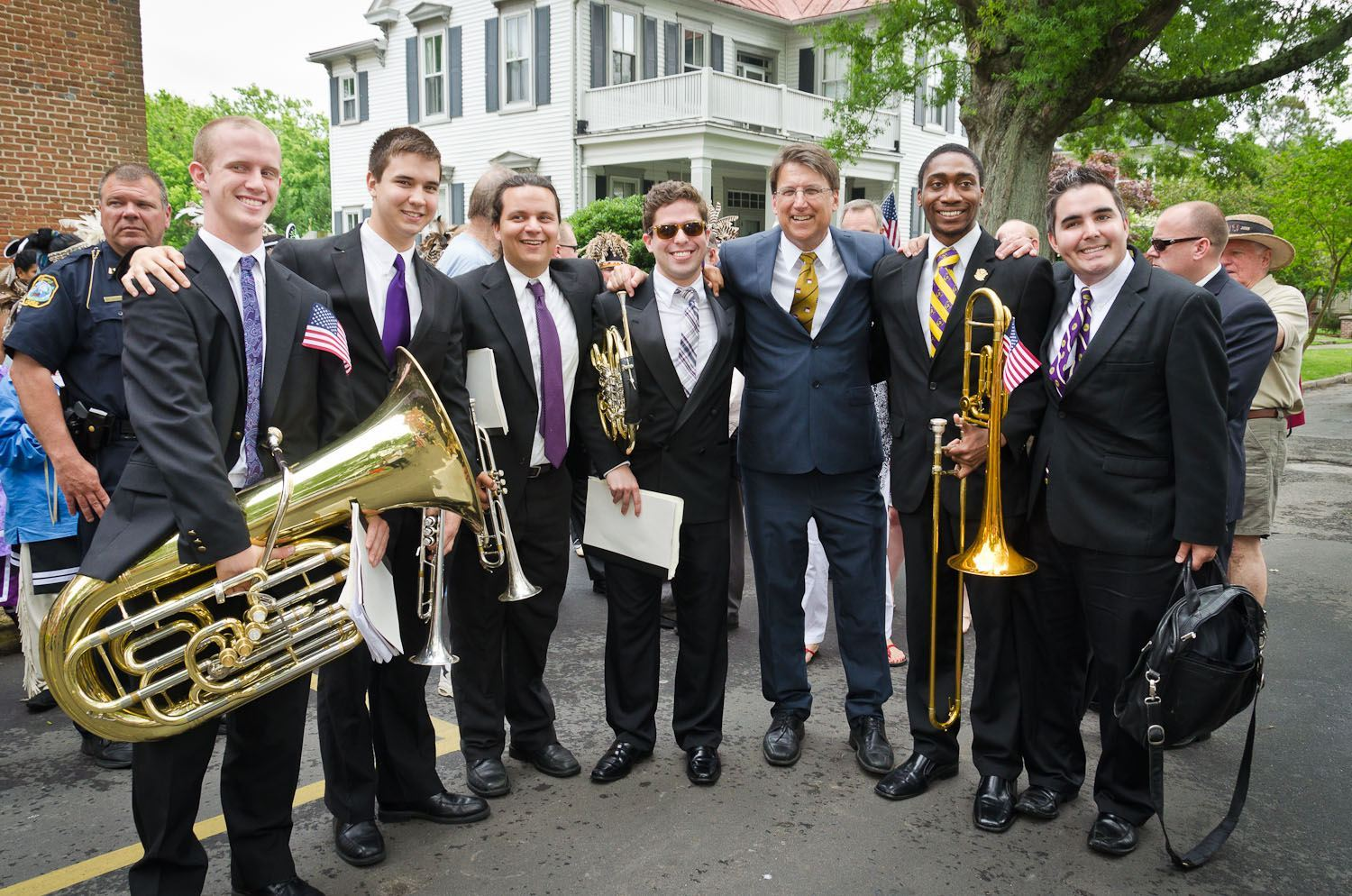 Gov McCrory and the band