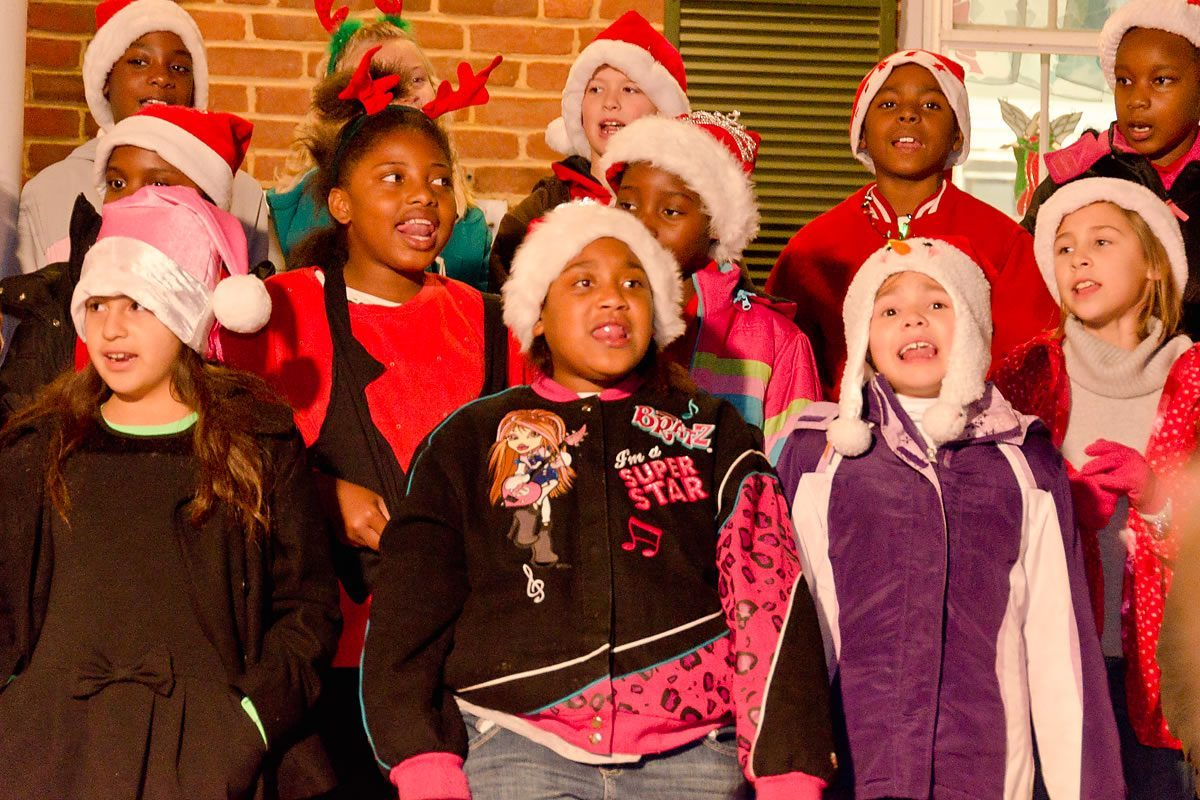 Caroling at the Town Tree Lighting