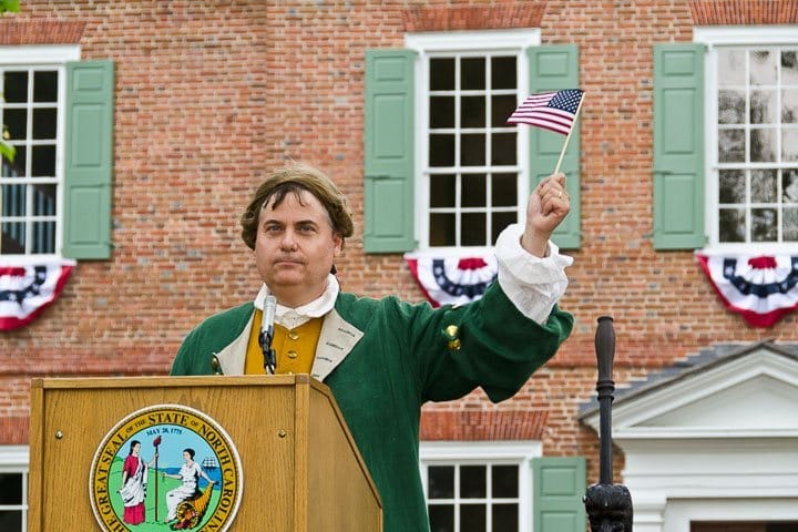 """Governor Eden"" celebrates our 300th anniversary, Edenton, North Carolina (Photo by Kip Shaw)"